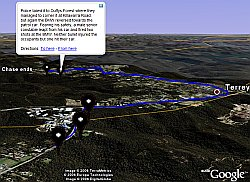 Escaped Convict Chase in Google Earth