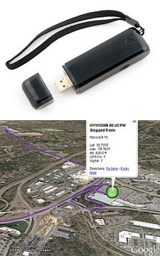 Trackstick GPS with Google Earth support