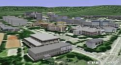 Technical University of Kaiserslautern in Google Earth