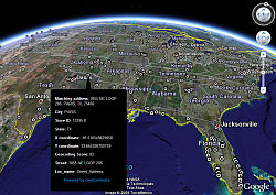 Starbucks Closures in Google Earth