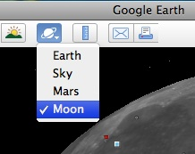 Moon choice for Google Earth