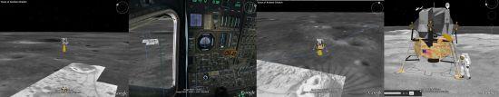 Screenshots of Moon in Google Earth