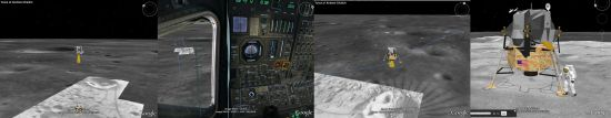 Screenshots of Moon in Google Earth