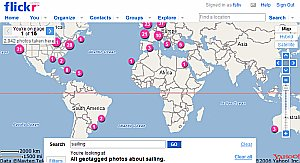 Flickr Map screenshot