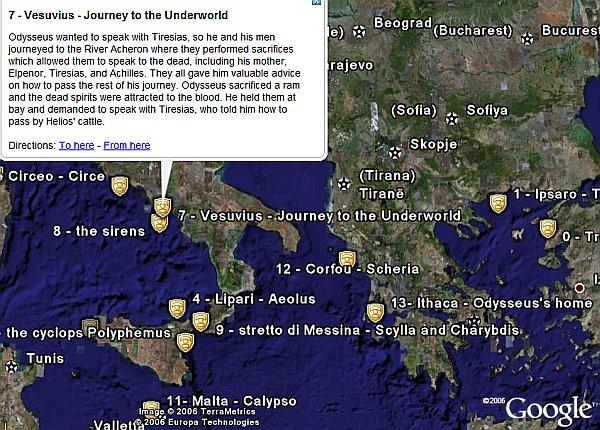 Travels of Odysseus in Google Earth - Google Earth Blog