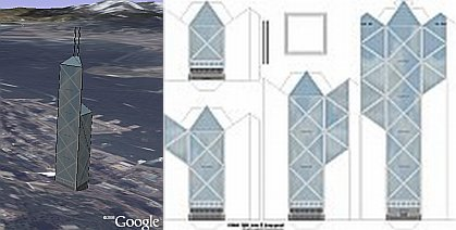Make a 3D Building in Google Earth Using Paper Drawing - Google