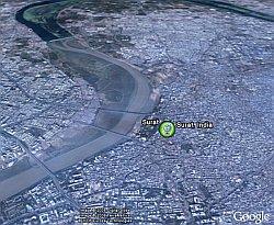 Surat India in Google Earth
