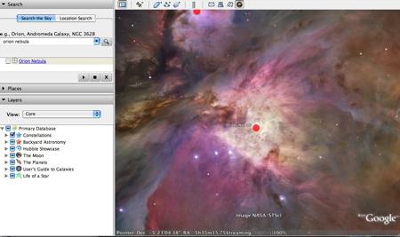 Night Sky in Google Earth 4.2