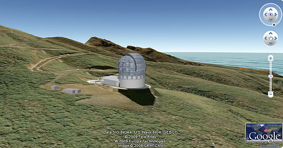 Gran Telescopip Canarias (Grand Canairies Telescope) - in Google Earth