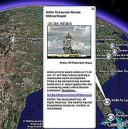 CBS News in Google Earth