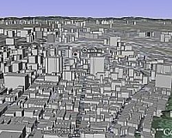 Osaka Japan 3D Buildings in Google Earth