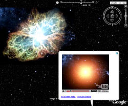Crab Nebula SuperNova explosion in Google Earth