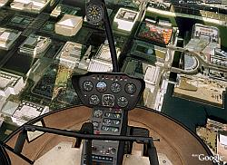 Inside a helicopter in Google Earth