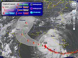 Track Hurricane Ike in Google Earth