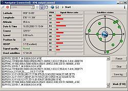 Navigator GPS tracking application in Google Earth