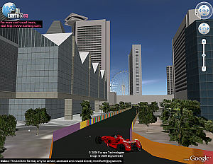 Singapore Grand Prix F1 Race in Google Earth