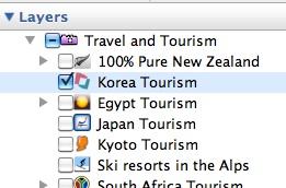 Korea Tourism Layer in Google Earth