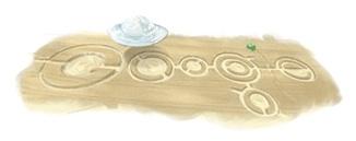 Google doodle of UFO and crop circles