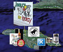 Jamaica Caribbean in Google Earth screenshot