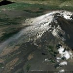 The ash emissions from Mount Etna