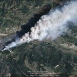 The Red Rock Fire in Google Earth