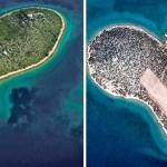 New scars for the famous heart-shaped island near Croatia