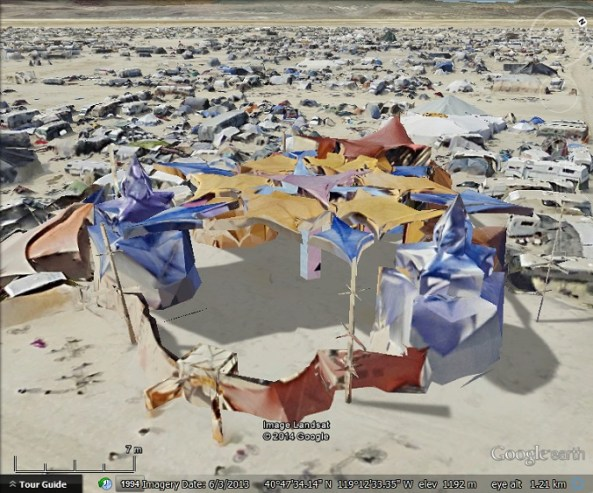 Black Rock City tent
