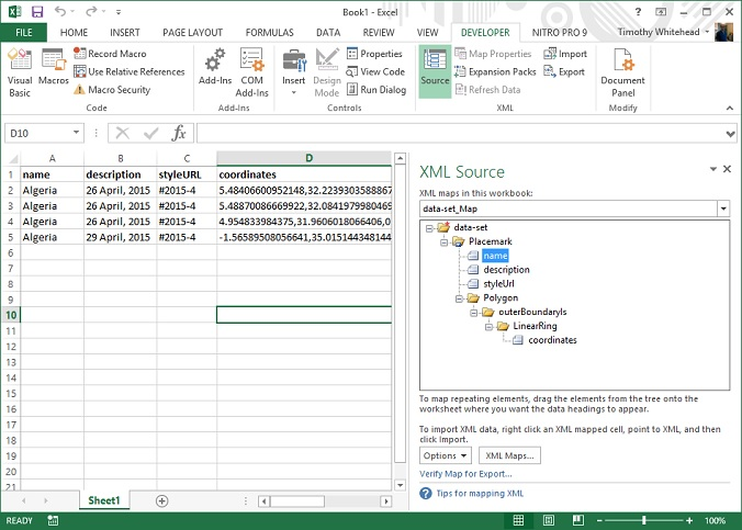 From Excel to KML via XML export - Google Earth Blog