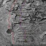 The Curiosity rover track