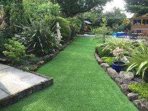 beautiful lawned garden with borders