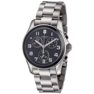 Victorinox Swiss Army 241544 Men's Chronograph Classic Black Dial Bracelet Watch
