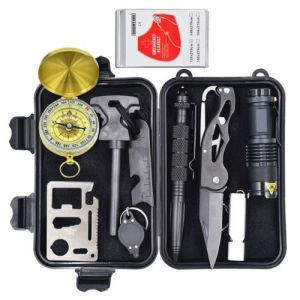 Eachway Professional 10 in 1 Emergency Survival Gear Kit Outdoor Survival Tool