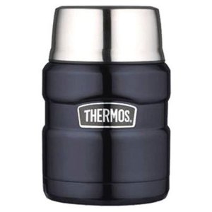 Thermos Stainless King 16 Ounce Food Jar with Folding Spoon, Midnight Blue