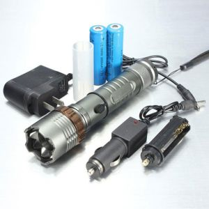 5000lumen T6 LED Zoom Flashlight Torch Rechargeable With 18650 Battery Charge