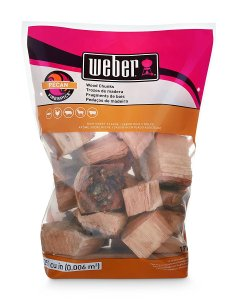 Weber-Stephen Products 17137 Pecan Wood Chunks, 350 cu. in. (0.006 cubic meter)