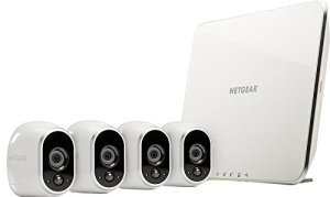 Arlo by NETGEAR Security System (NETGEAR Certified Refurbished) – 4 Wire-Free HD Cameras | Indoor/Outdoor | Night Vision (VMS3430)