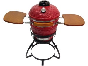 "Beacon CRG113W 13"" Ceramic Grill with Trays and Stand - Red or Black"