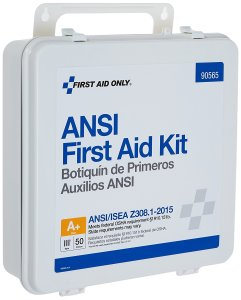 First Aid Only 90565 ANSI 2015 Compliant 50 Person Bulk Class A+, First Aid Kit, Plastic, Weatherproof