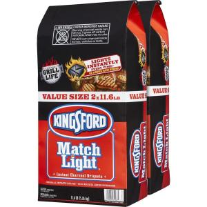 Kingsford Match Light 2-Pack 11.6-lb Charcoal Briquettes