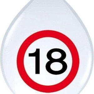 Ballon Verkeersbord leeftijd 18 jaar