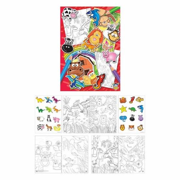 Kleurboek Met stickers