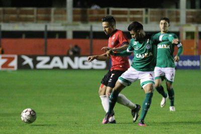 Rafinha, no início do segundo tempo, anotou o gol da vitória rubro-negra. Foto: Jonathan Silva