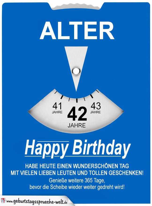 42 Geburtstag Bild Happy Birthday Mit Ballons