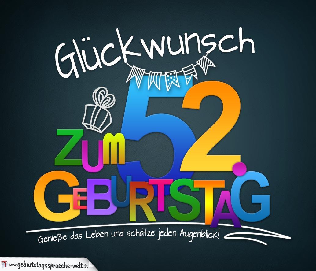 52 Geburtstag Lustiger Spruch Stoffbeutel Spreadshirt