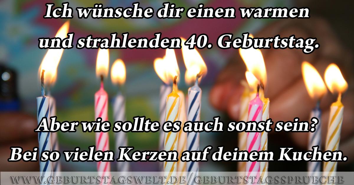Geburtstagswunsche Fur Manner 40 Lustige Geburtstagsspruche Zum 40 Gluckwunsche