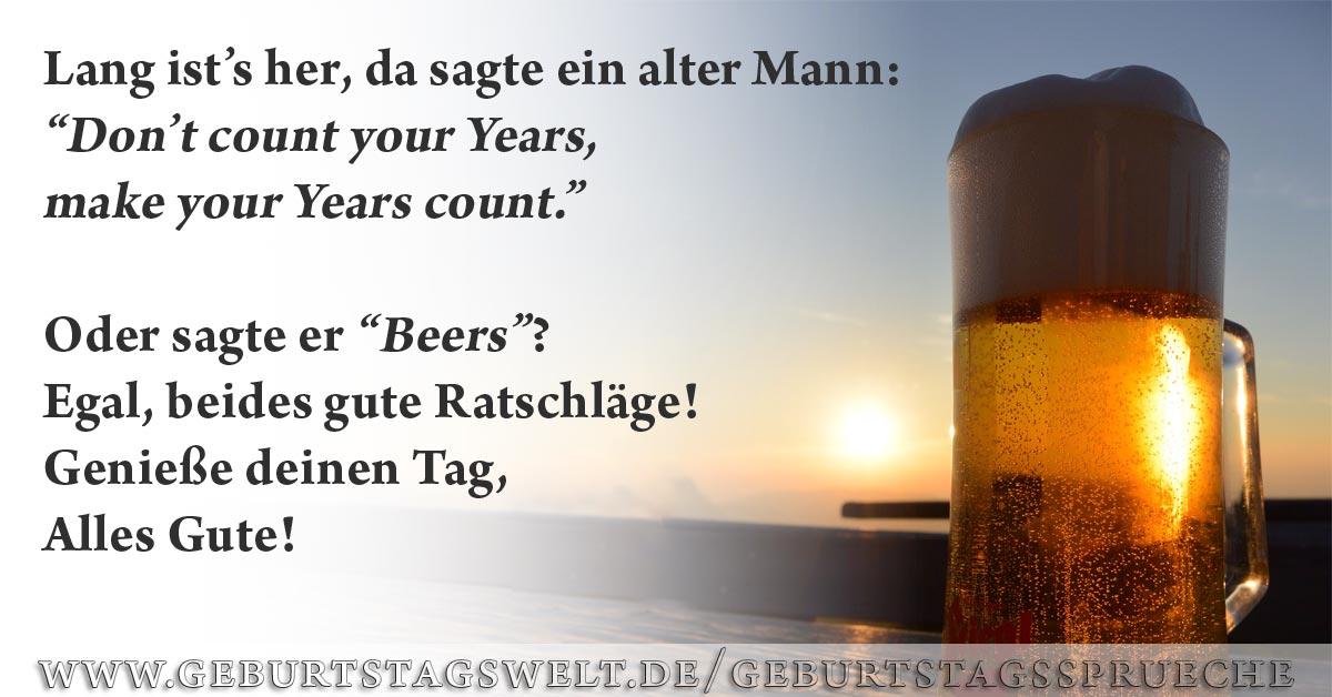 Und Immer Genug Bier Im Keller Spruche Zum Geburtstag Bier
