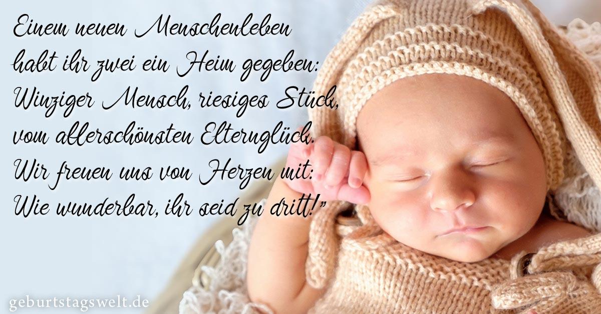 Klappkarte Herzlichen Gluckwunsch Zum Baby 4 Incl Umschlag
