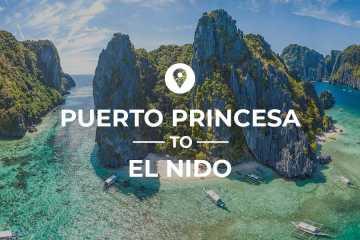 Puerto Princesa to El Nido van and bus route