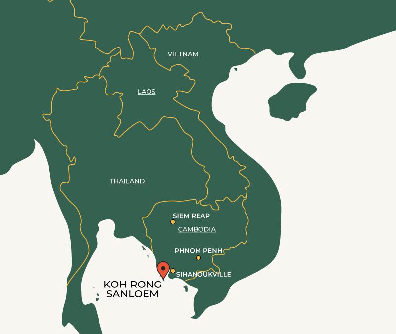 Koh Rong Sanloem on map