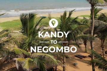 Kandy to Negombo by train and bus